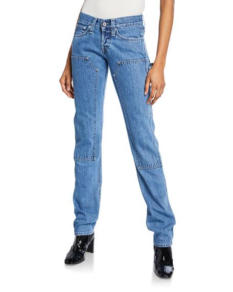 Helmut Lang Jeans MASC LO UTILITY STRAIGHT-LEG JEANS