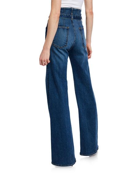 e674277b6a Veronica Beard Rosanna Corset Wide-Leg Belted Jeans