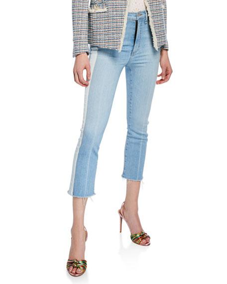 Veronica Beard Carly Kick Flare Jeans with Tuxedo