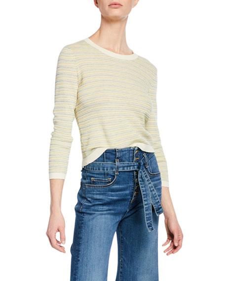 Veronica Beard Sweaters BOISE STRIPED BRACELET-SLEEVE SWEATER