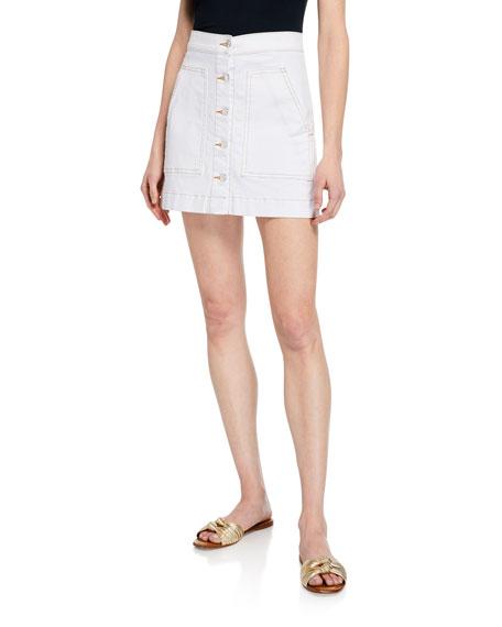 Veronica Beard Skirts GETTY BUTTON-FRONT DENIM CARGO SKIRT