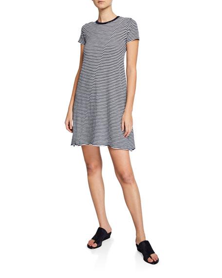 Atm Anthony Thomas Melillo Dresses STRIPED JERSEY SHORT-SLEEVE TEE DRESS