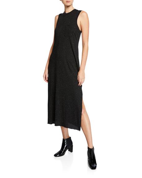 Atm Anthony Thomas Melillo Dresses SPECKLED SLEEVELESS SIDE-SPLIT MAXI DRESS W/ POCKET