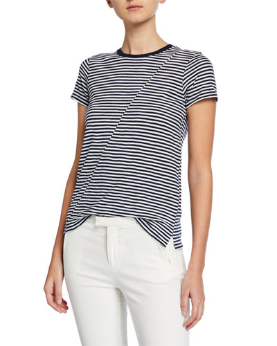 Striped Jersey Short-Sleeve Tee