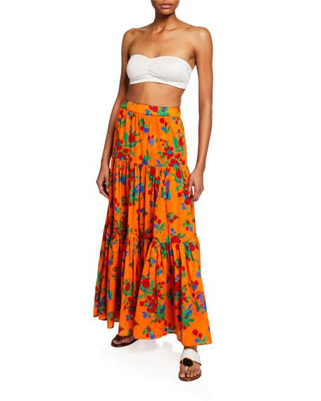 4324de313b95 Tory Burch Floral-Print Tiered Coverup Maxi Dress