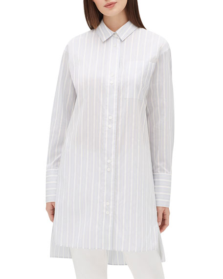 Lafayette 148 New York Marivin Striped Button-Down Oversized