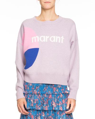 Korbin Wool-Blend Logo Pullover Sweater