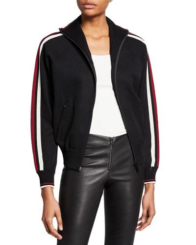Darcey Zip-Front Track Jacket
