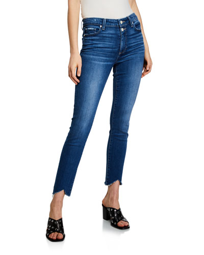 Hoxton Ankle-Split Skinny Jeans with Double Buttons
