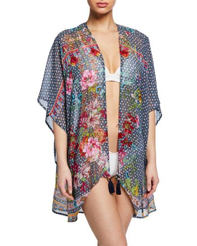 Ember Short Kimono