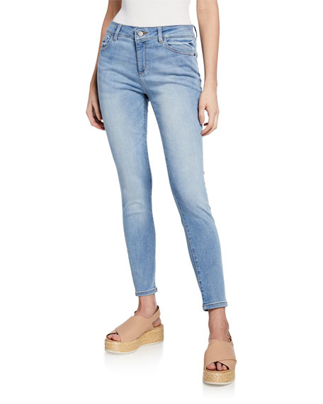 DL1961 Premium Denim Florence Mid-Rise Ankle Skinny Jeans