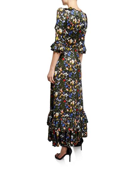 The Royal Cinderella Floral Ruffle Dress