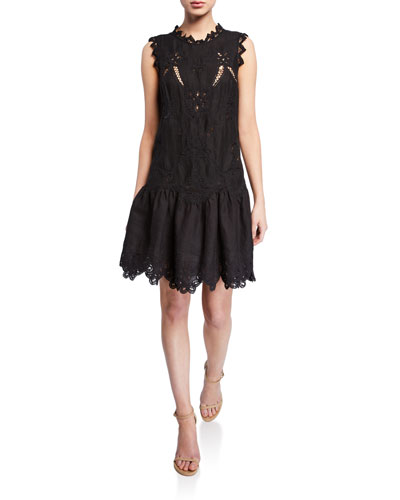Terri Sleeveless Embroidered Dress