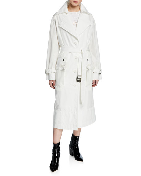 Coach Military Long Trench Coat