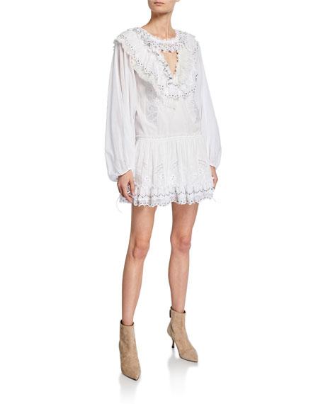 41c4233ec4b Zimmermann Heathers Floral-Print Linen Long-Sleeve Mini Dress