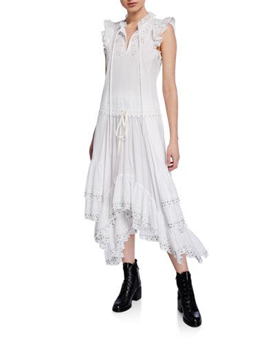 Cotton Prairie Dress w/ Ruffles