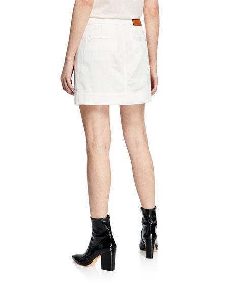 Short Military Patch-Pocket Skirt
