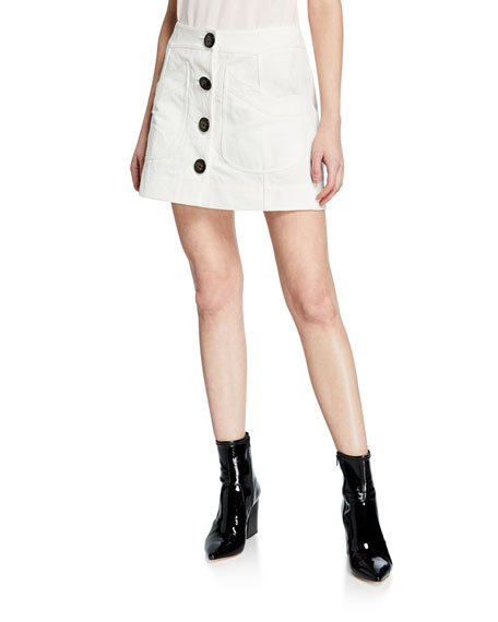 Coach Short Military Patch-Pocket Skirt