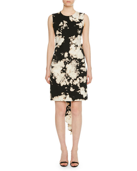 N°21 Dresses PATTERNED BOW-TIE OPEN-BACK COCKTAIL DRESS