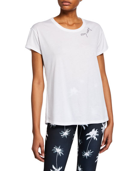Stay Salty Scoop-Neck Graphic Tee