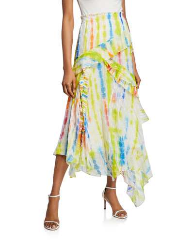 Teresa Tiered Ruffle Long Skirt
