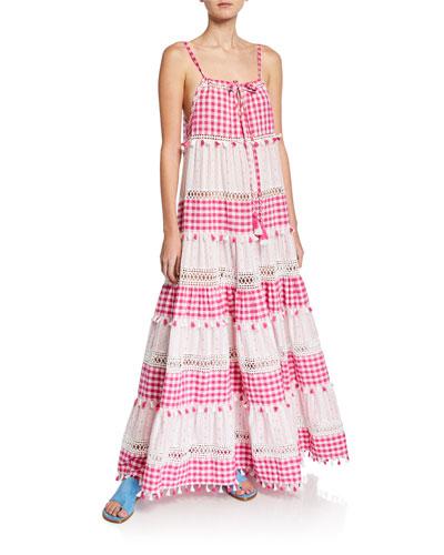 Patricia Tiered Check Sleeveless Dress