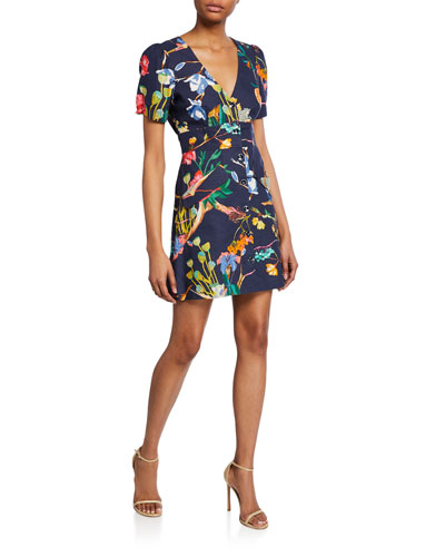 Blanca Linen Floral Button-Front Dress