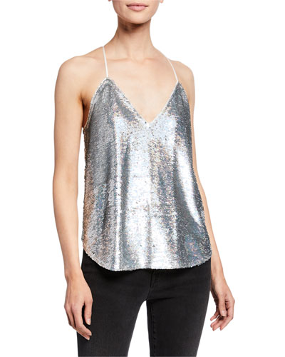 Ernet Sequin Halter Top