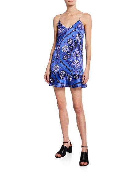 8c2771c04 Caroline Constas Tina Paisley Printed Flounce Slip Dress