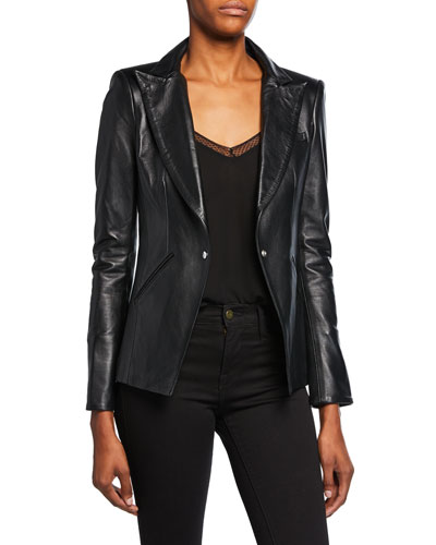 The Bexley Leather Blazer Jacket