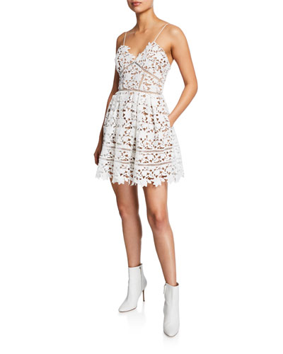 Azaelea Floral Lace Sleeveless Mini Dress