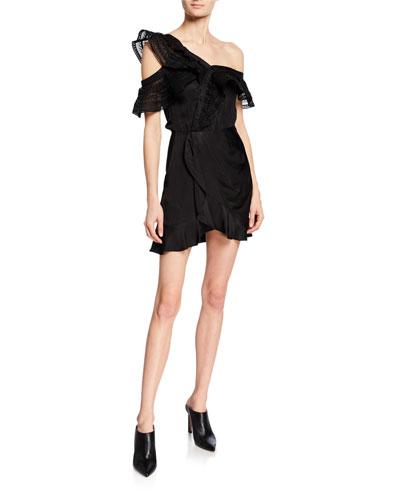 One-Shoulder Frilled Short Dress