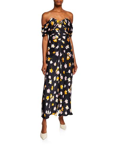 e8770dc4c4b96 Promotion Off-Shoulder Floral-Printed Dress