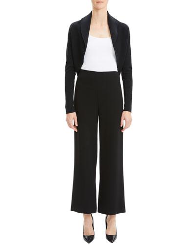 Wool-Silk Long-Sleeve Shrug