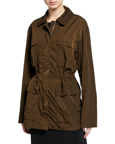 Theory Zip-Front Nylon Travel Anorak Jacket
