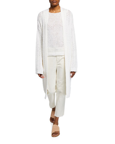 Travel Open-Front Knit Cardigan