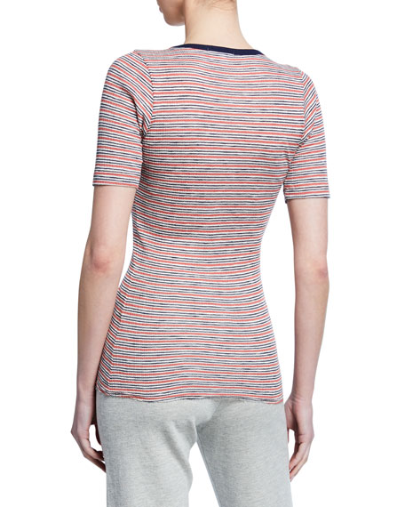 Frenche Tee with Contrast Trim
