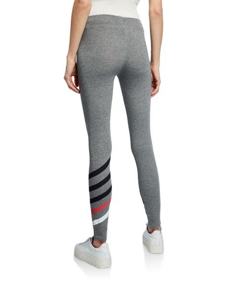 Striped-Leg Leggings