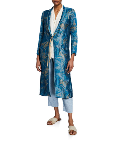 Forte Forte Agave Jacquard Tie-Front Duster Coat