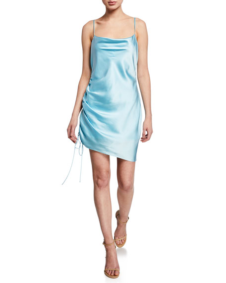 cinq a sept Astrid Satin Cocktail Dress