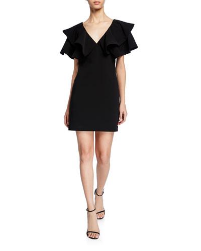 3a523ef9a8c1c Ambrose V-neck flounce-sleeve mini dress Quick Look. cinq a sept