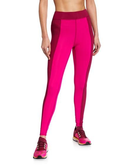 Cushnie Pants LIBBY HIGH-WAIST TWO-TONE LEGGINGS