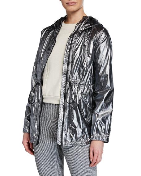 CUSHNIE Ophilie Hooded Zip-Front Anorak Jacket
