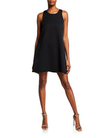 Sleeveless Scoop Neck Trapeze Dress by Milly