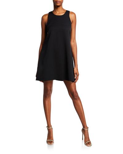 Sleeveless Scoop-Neck Trapeze Dress