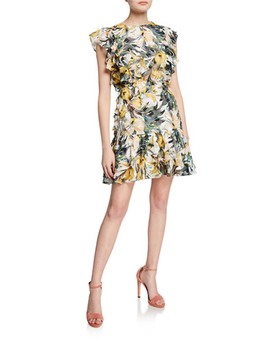 Emmi Floral-Print Off-the-Shoulder Dress Dress