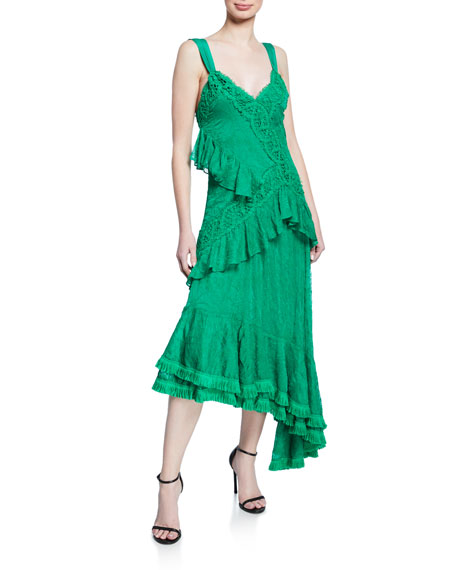 Alexis Bozoma Lace Ruffle Long Dress