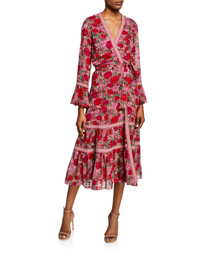 1baf359ab909 Marcas Floral-Print Wrap Dress Quick Look. Alexis