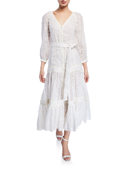 Alexis Joyce Linen Fil Coupe Maxi Dress