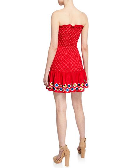Fatima Smocked Strapless Short Dress
